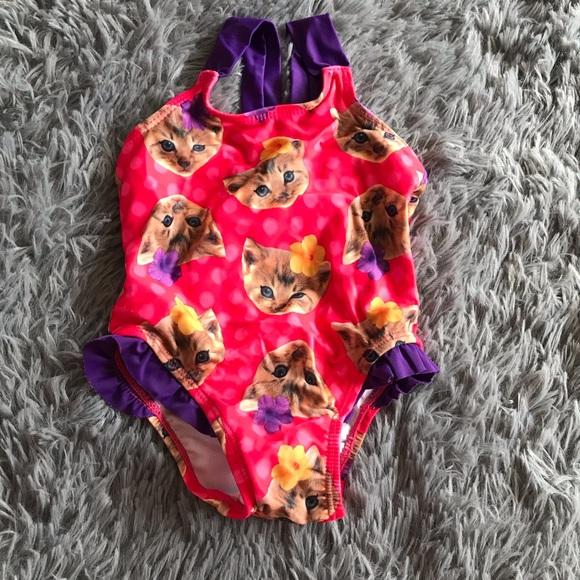5/$25 CHILDREN'S PLACE kitten bathing suit /swim